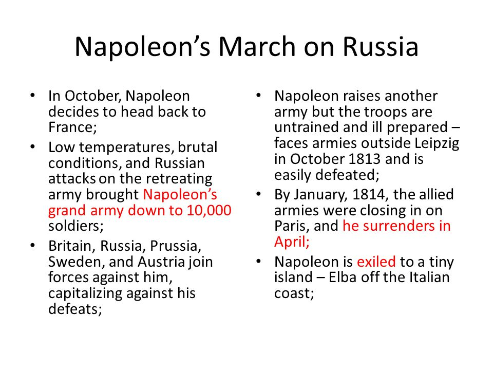 Napoleon's March on Russia
