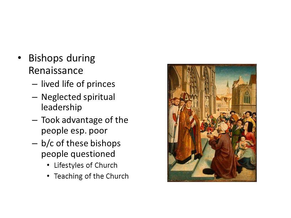 Bishops during Renaissance