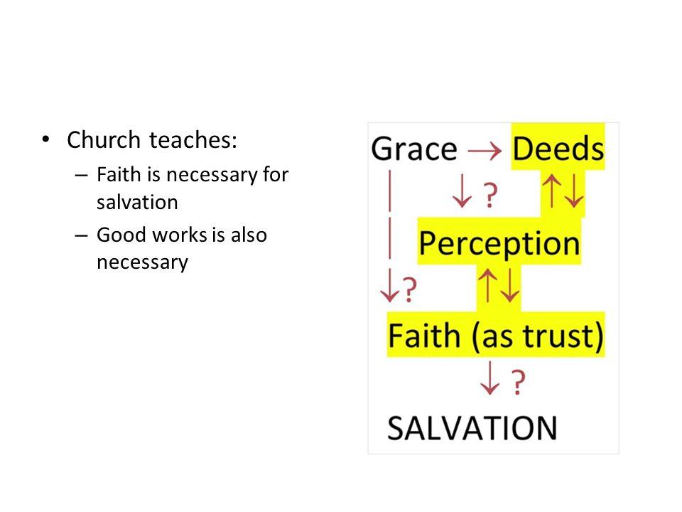Church teaches: Faith is necessary for salvation
