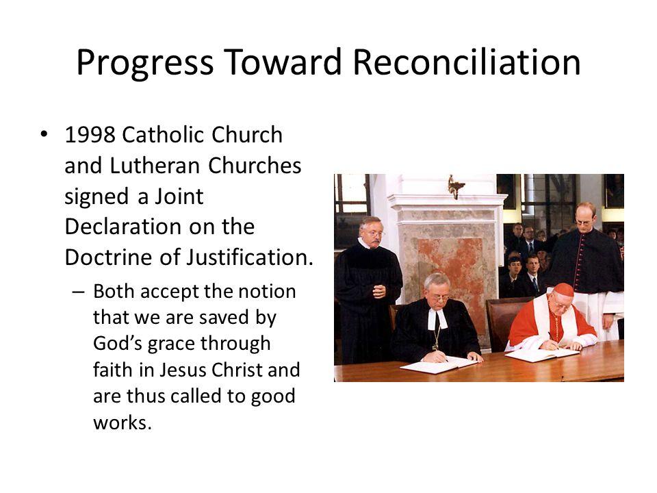 Progress Toward Reconciliation