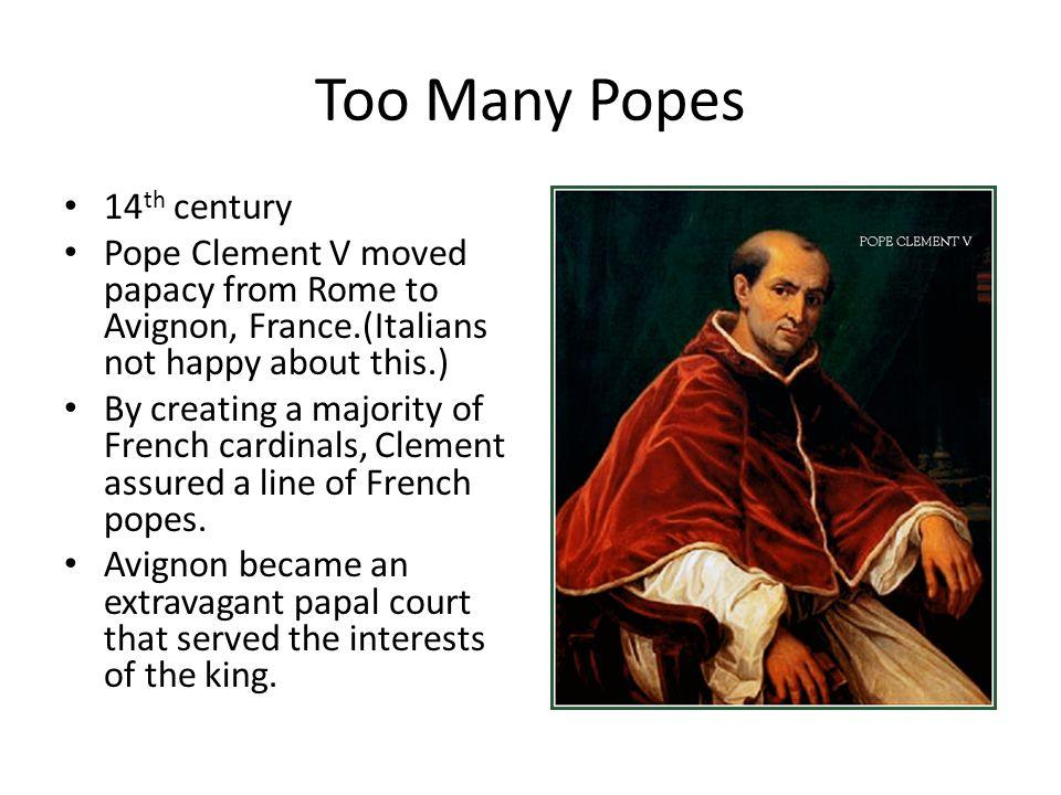 Too Many Popes 14th century