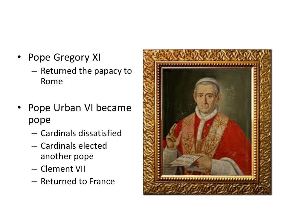 Pope Urban VI became pope