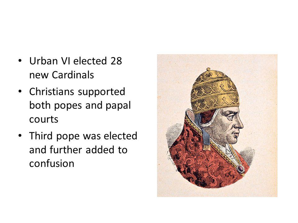 Urban VI elected 28 new Cardinals