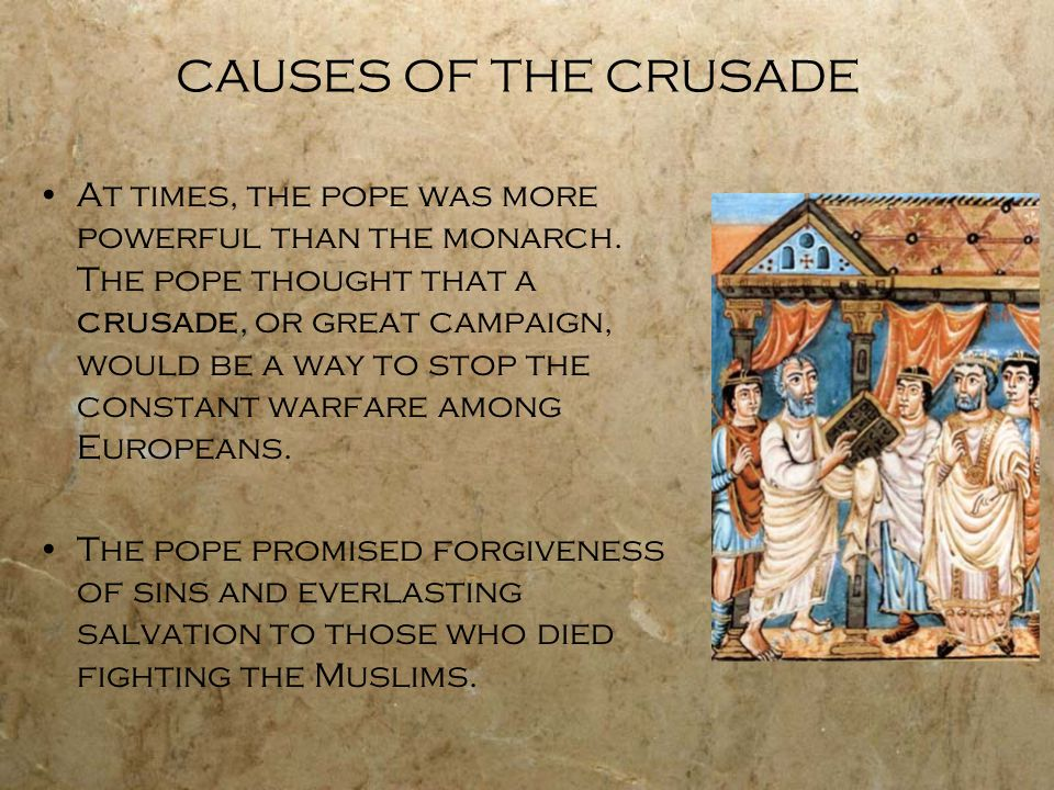 CAUSES OF THE CRUSADE