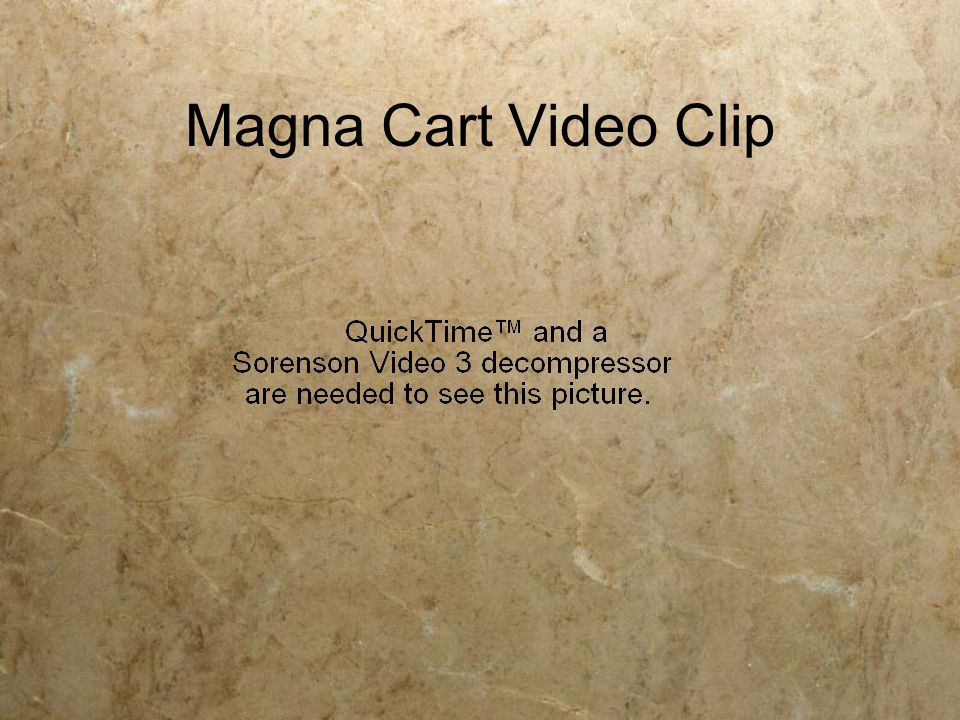 Magna Cart Video Clip