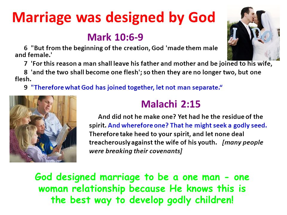 Marriage was designed by God