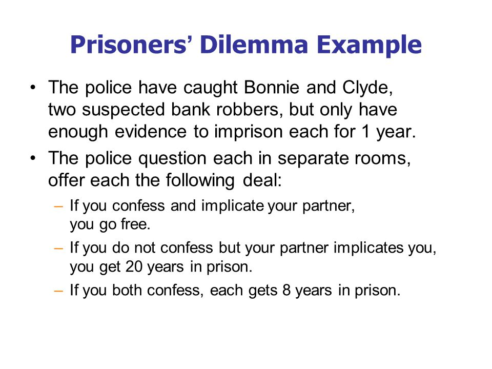 Prisoners' Dilemma Example