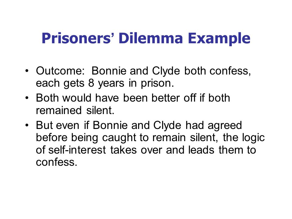 Oligopolies as a Prisoners' Dilemma