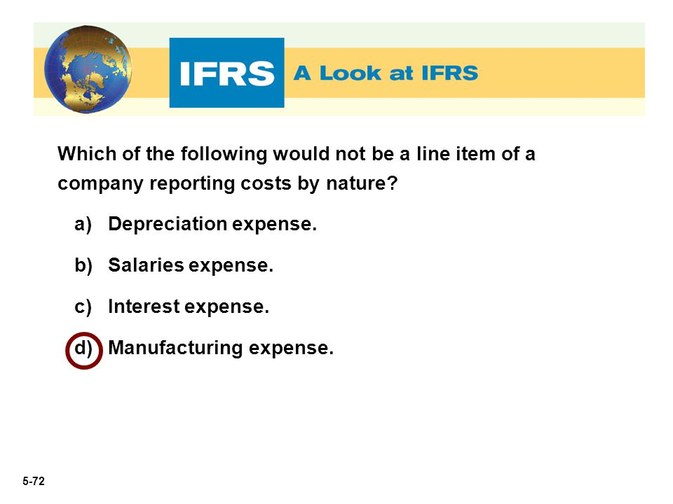 Which of the following would not be a line item of a company reporting costs by nature