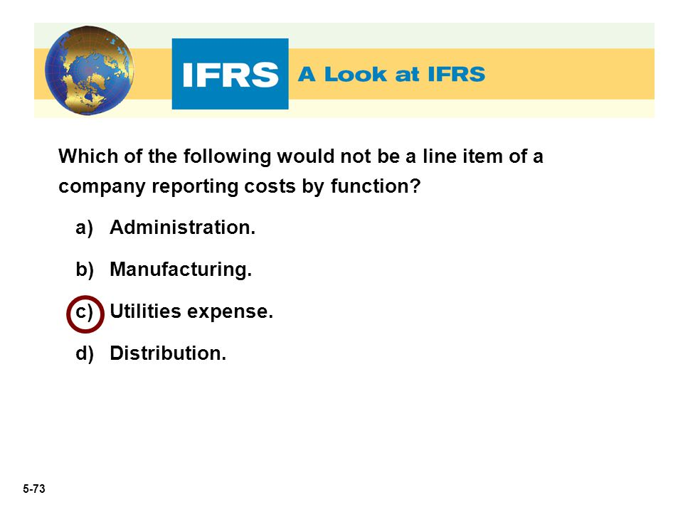 Which of the following would not be a line item of a company reporting costs by function