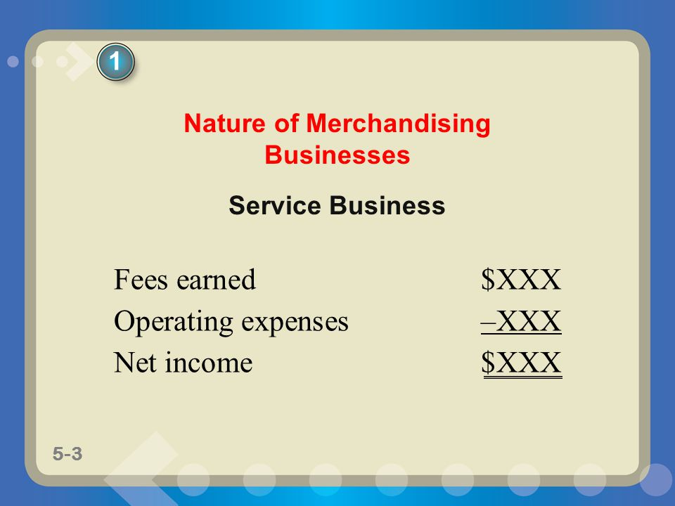 Nature of Merchandising Businesses