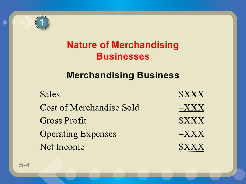 Nature of Merchandising Businesses Merchandising Business