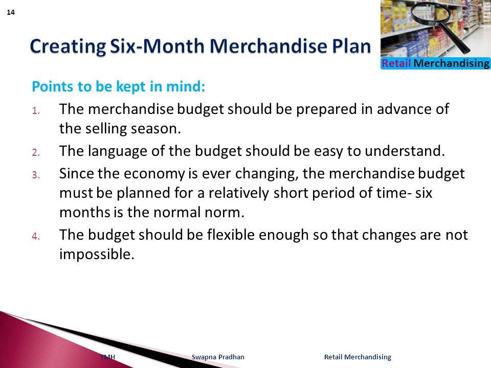 Creating Six-Month Merchandise Plan