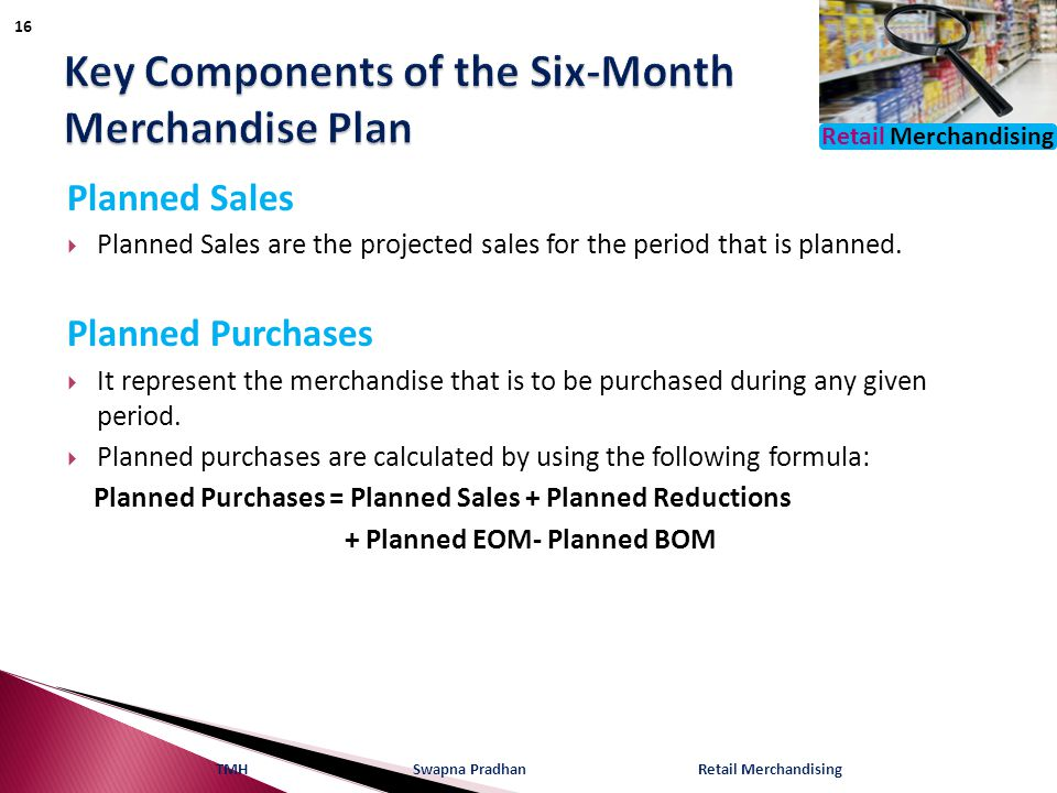 Key Components of the Six-Month Merchandise Plan
