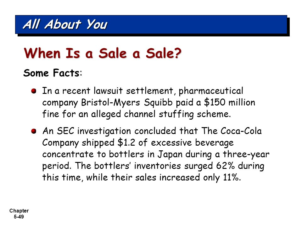 When Is a Sale a Sale All About You Some Facts: