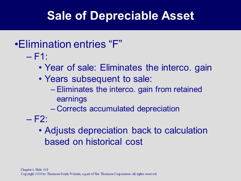 Sale of Depreciable Asset