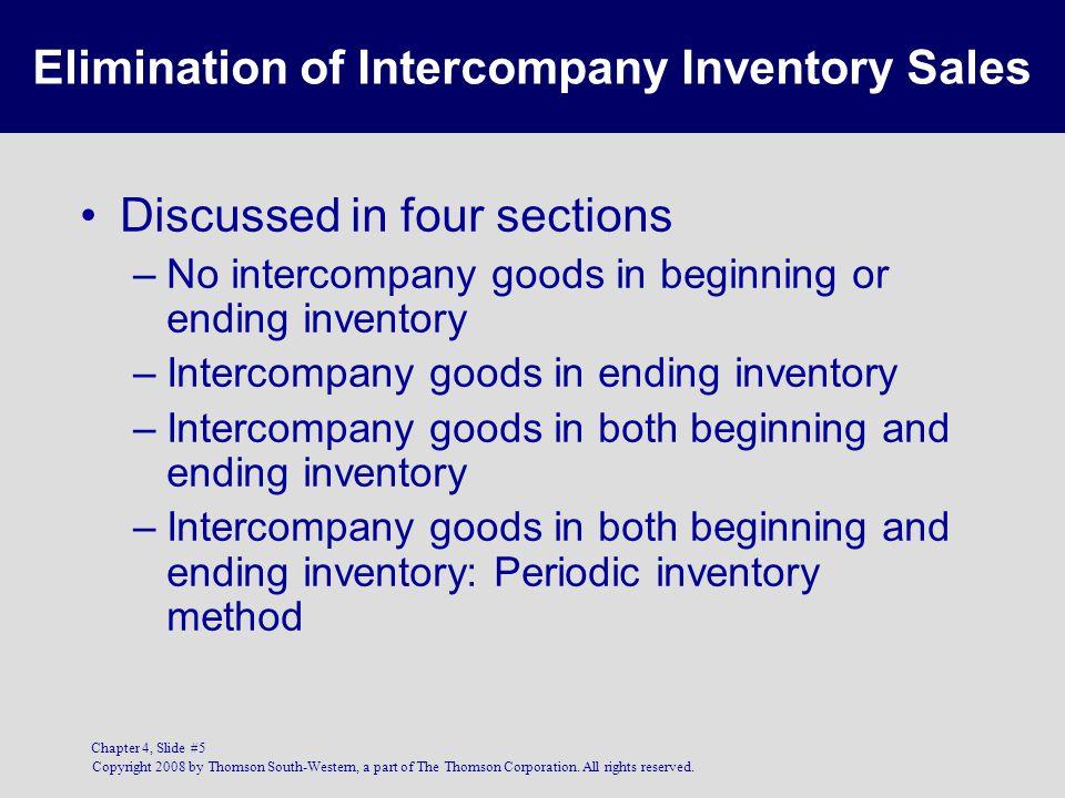 Elimination of Intercompany Inventory Sales