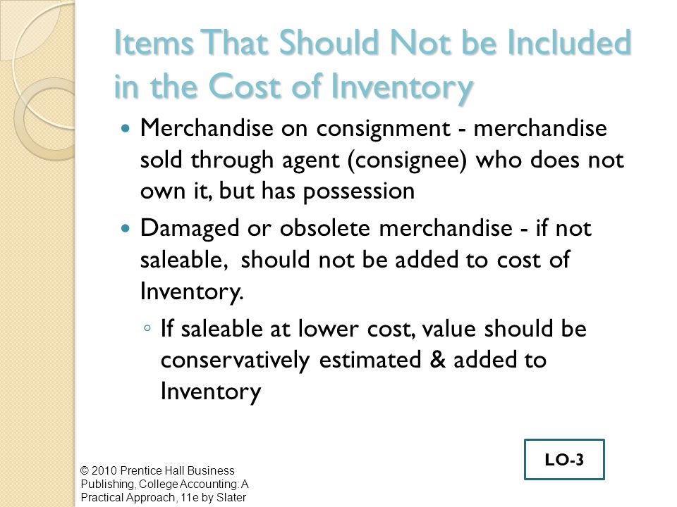 Items That Should Not be Included in the Cost of Inventory