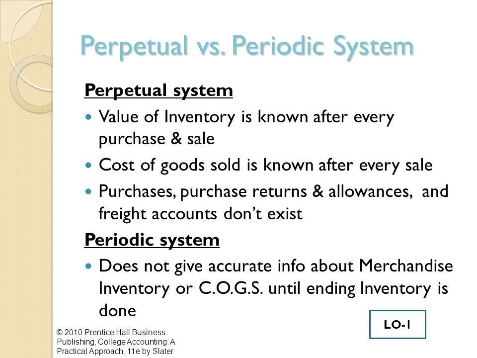 Perpetual vs. Periodic System