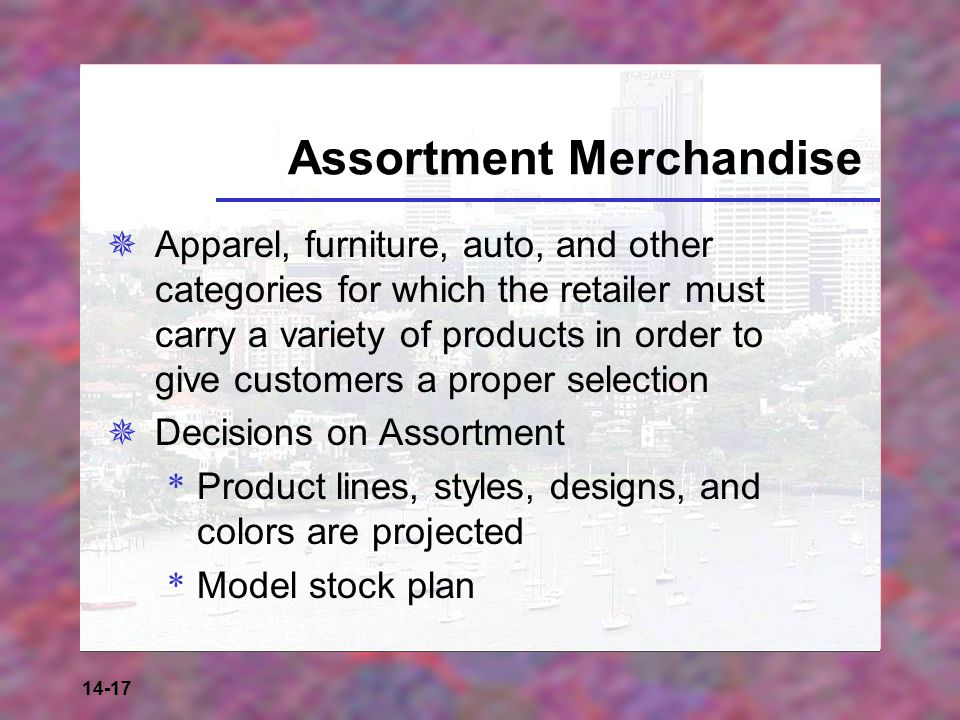 Assortment Merchandise