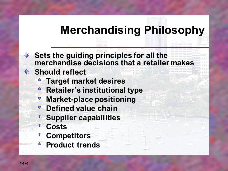 Merchandising Philosophy
