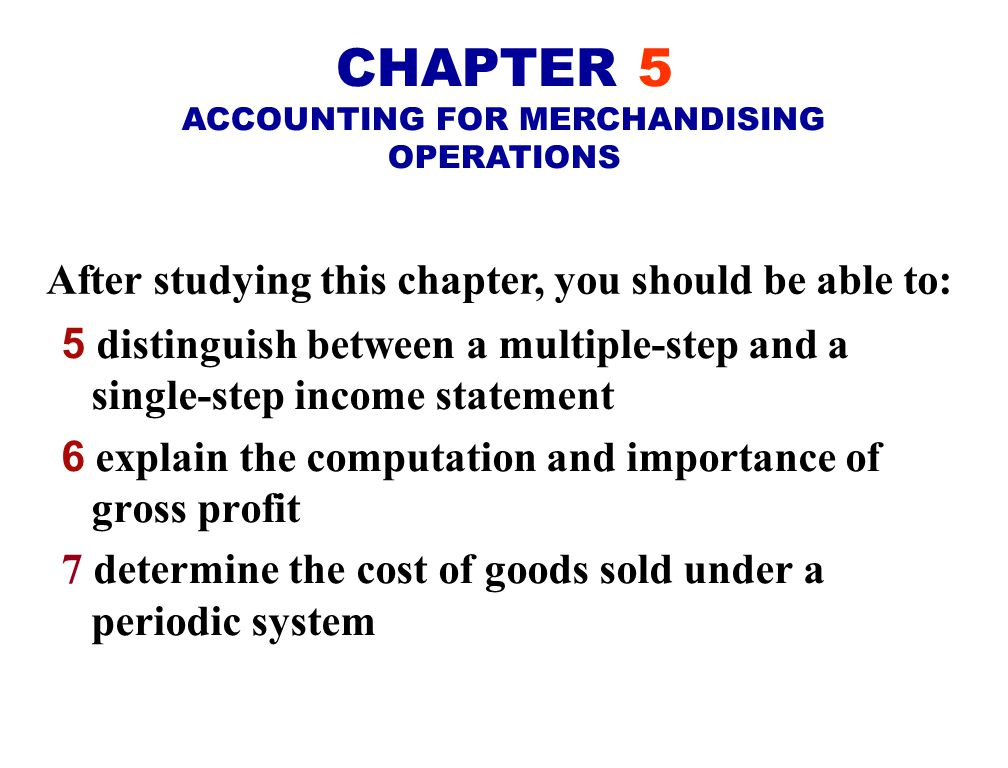 Accounting Chapter 5 problems