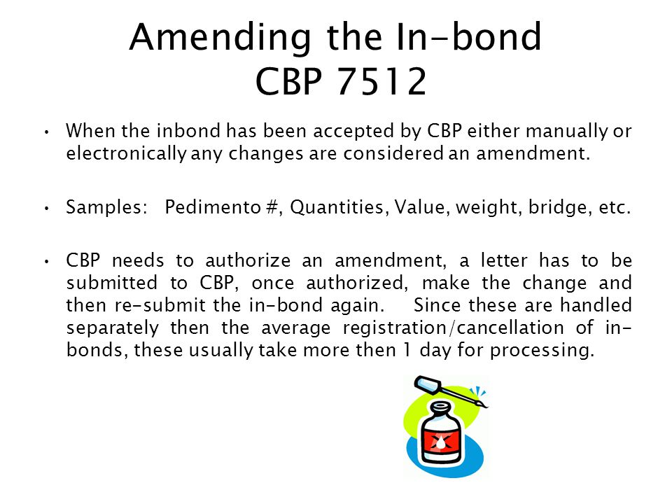 In-Bonds (CBP 7512) Mercancia bajo finanza Aduanero - ppt video ...