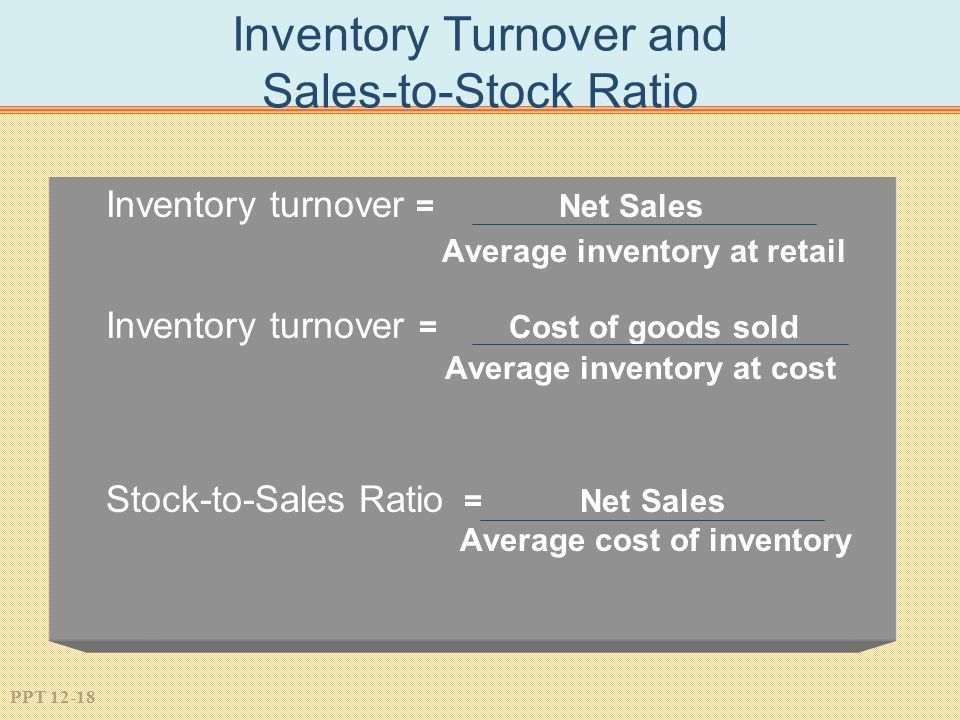 Inventory Turnover and Sales-to-Stock Ratio