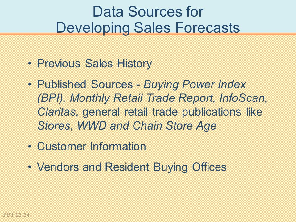 Data Sources for Developing Sales Forecasts