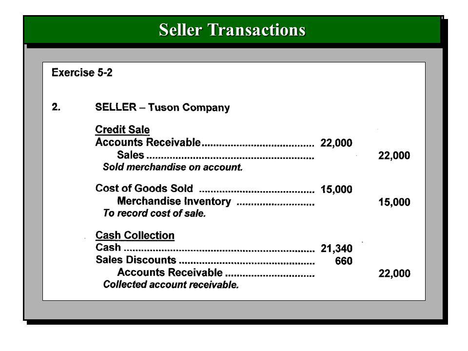 Seller Transactions