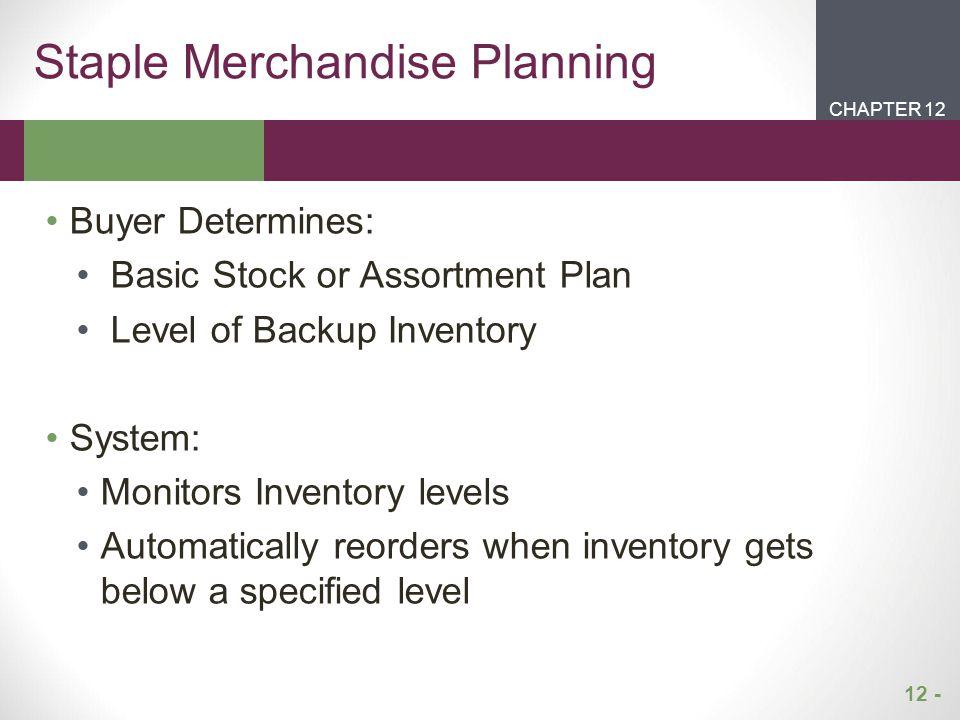 Staple Merchandise Planning