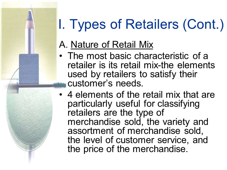 I. Types of Retailers (Cont.)