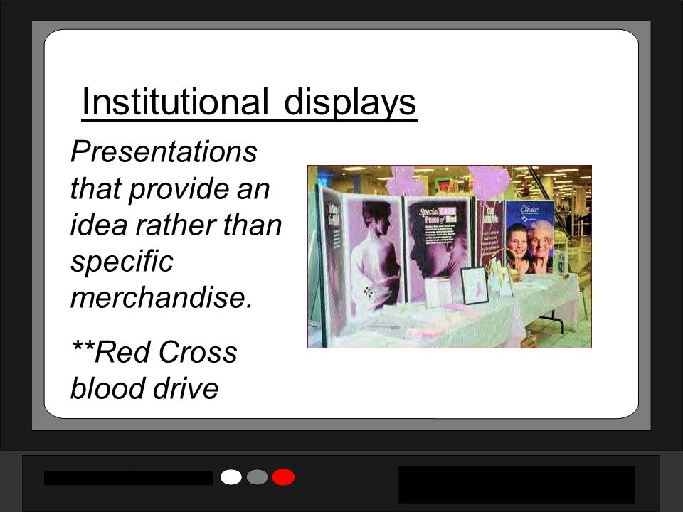 Institutional displays
