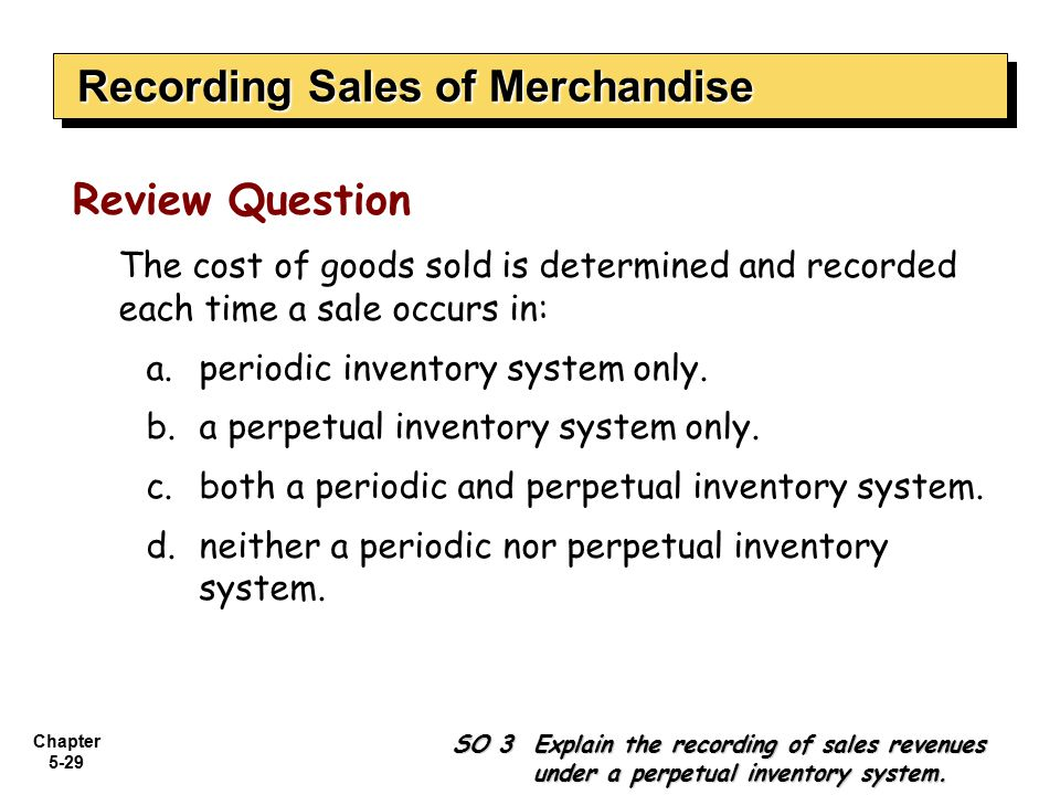 Sales and inventory system of a