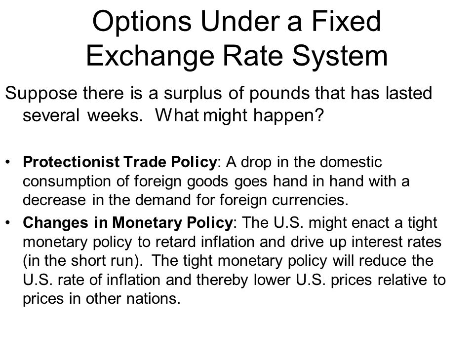 Options Under a Fixed Exchange Rate System