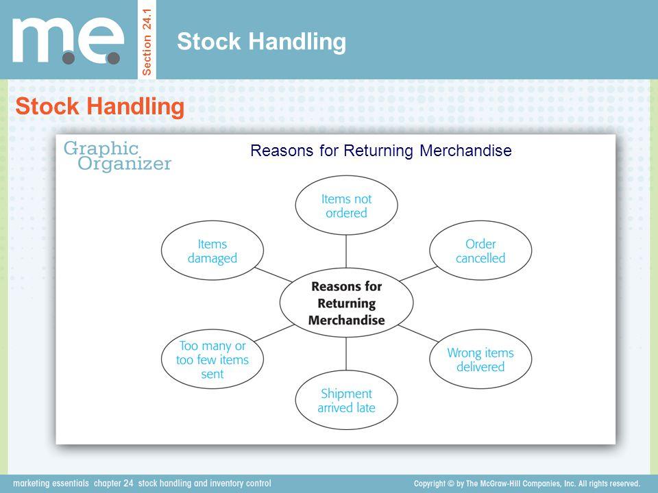 Reasons for Returning Merchandise