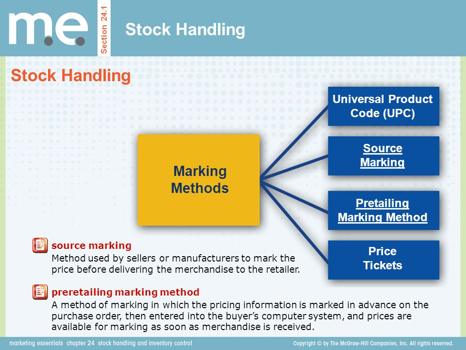Universal Product Code (UPC) Pretailing Marking Method