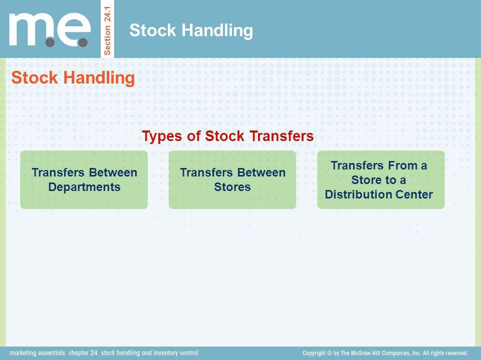 Stock Handling Stock Handling Types of Stock Transfers