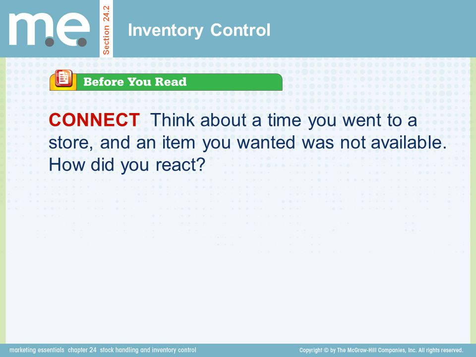 Inventory Control Section 24.2.