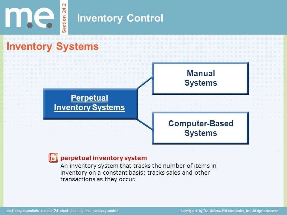 Perpetual Inventory Systems Computer-Based Systems