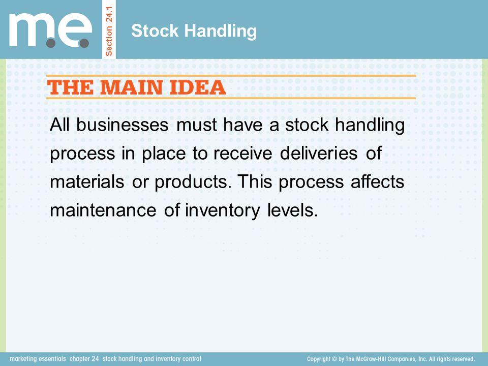 Stock Handling Section 24.1.