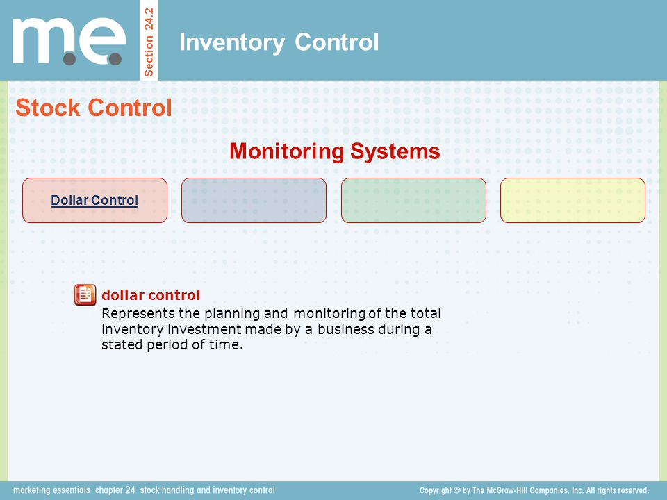 Inventory Control Stock Control Monitoring Systems Dollar Control