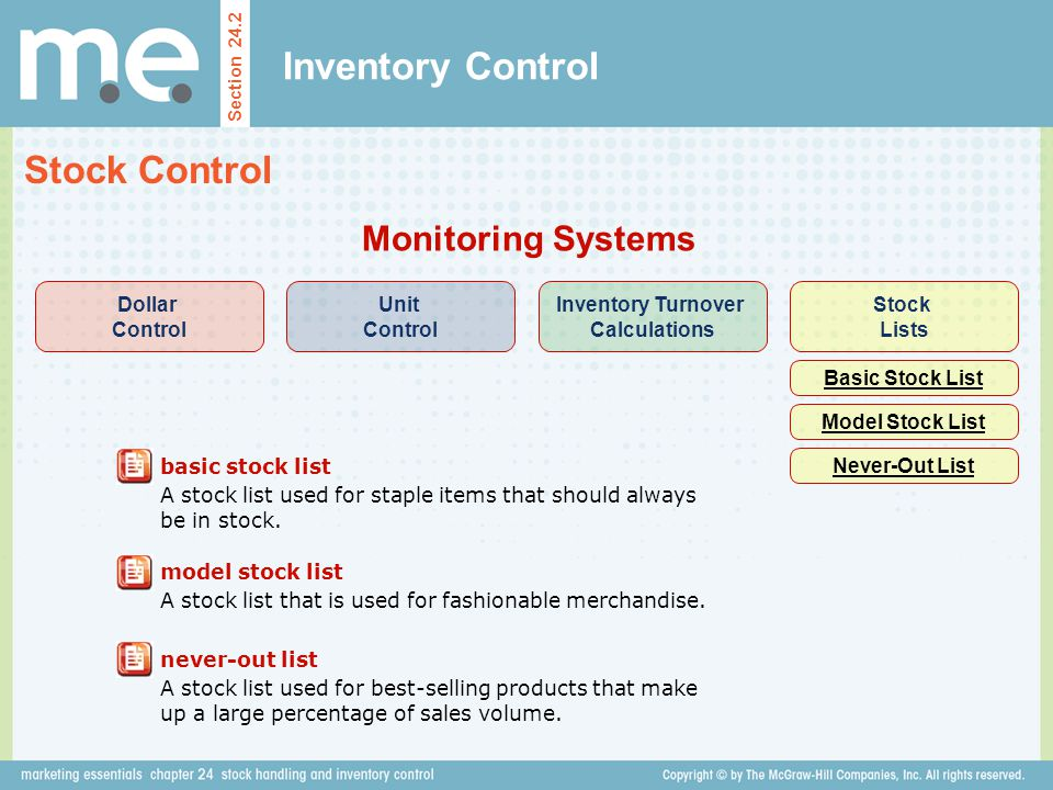 Chapter 24 stock handling and inventory control Section ppt video