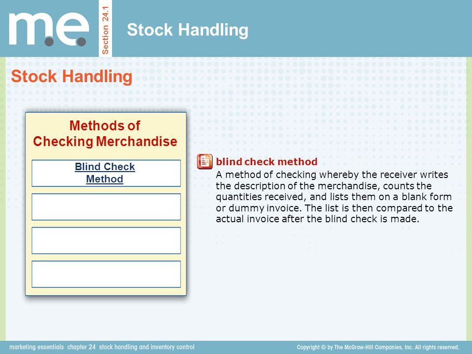 Methods of Checking Merchandise