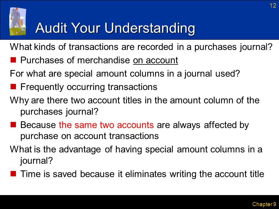 Audit Your Understanding