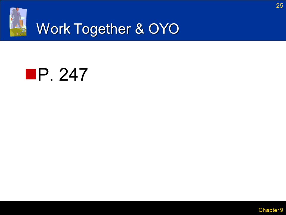 Work Together & OYO P. 247 Chapter 9
