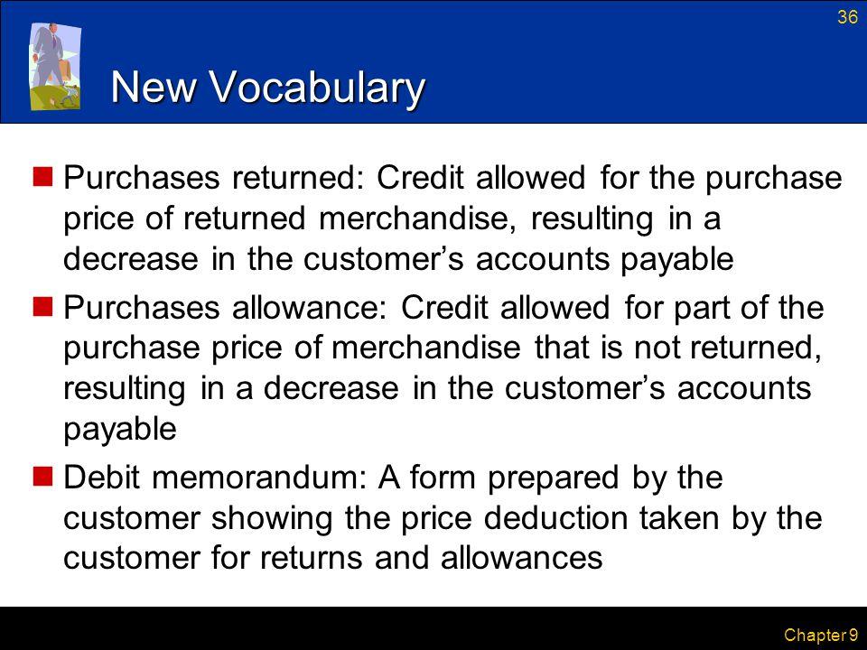 New Vocabulary