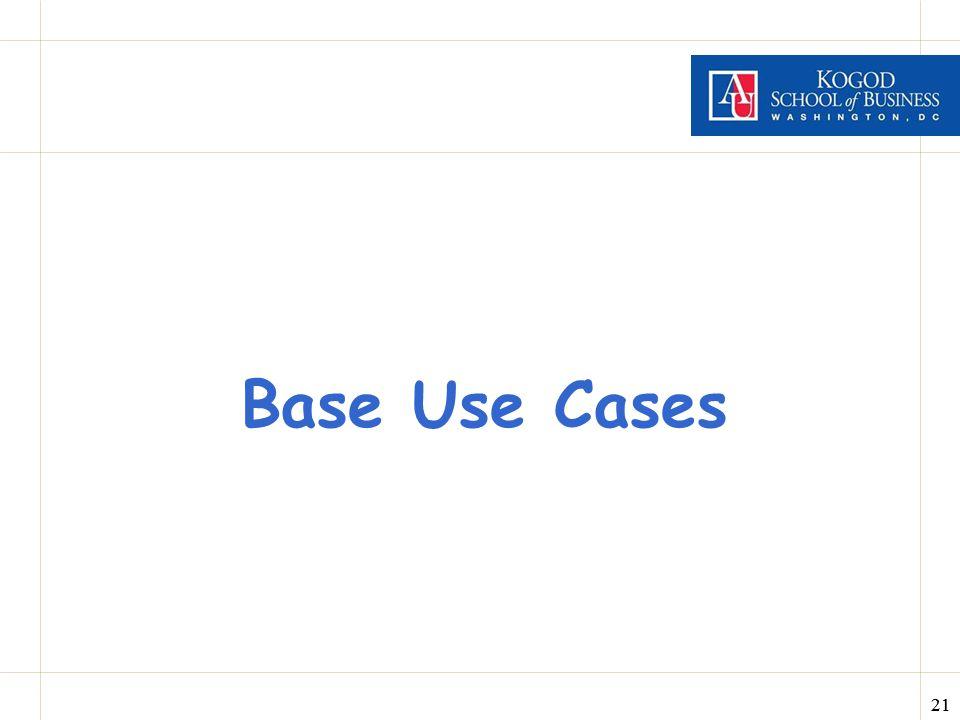 Base Use Cases
