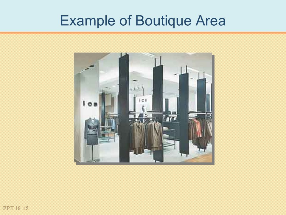 Example of Boutique Area