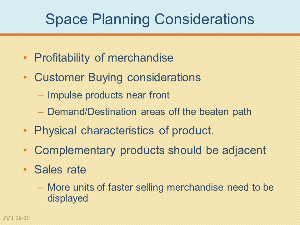 Space Planning Considerations
